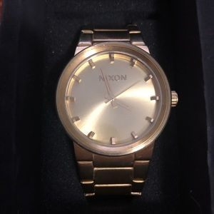 Men's Nixon Cannon Watch - All Gold